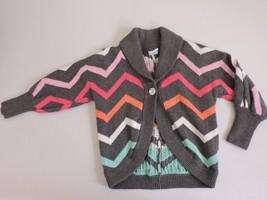 Gymboree Wild for Horses Sweater Chevron Stripes Gray Cardigan Top Size XS 3-4 - $12.48