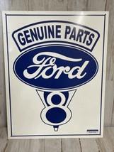 Genuine Ford Parts Service Tin Metal Sign V8 Garage Auto Car Motor Vinta... - $12.16