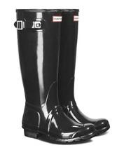 Hunter Original Tall Wellington Welly Black Gloss Boots WFT1000RGL US 10 NIB image 2