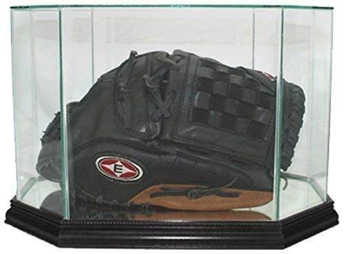 Perfect Cases MLB Octagon Baseball Glove Glass Display Case, Black