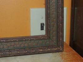 """Antique 34""""x19.5"""" 1900s Picture Frame Art Deco Nouveau bronze & green co... - €86,08 EUR"""