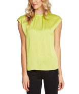 Vince Camuto Womens Satin Shirred Blouse - $69.00