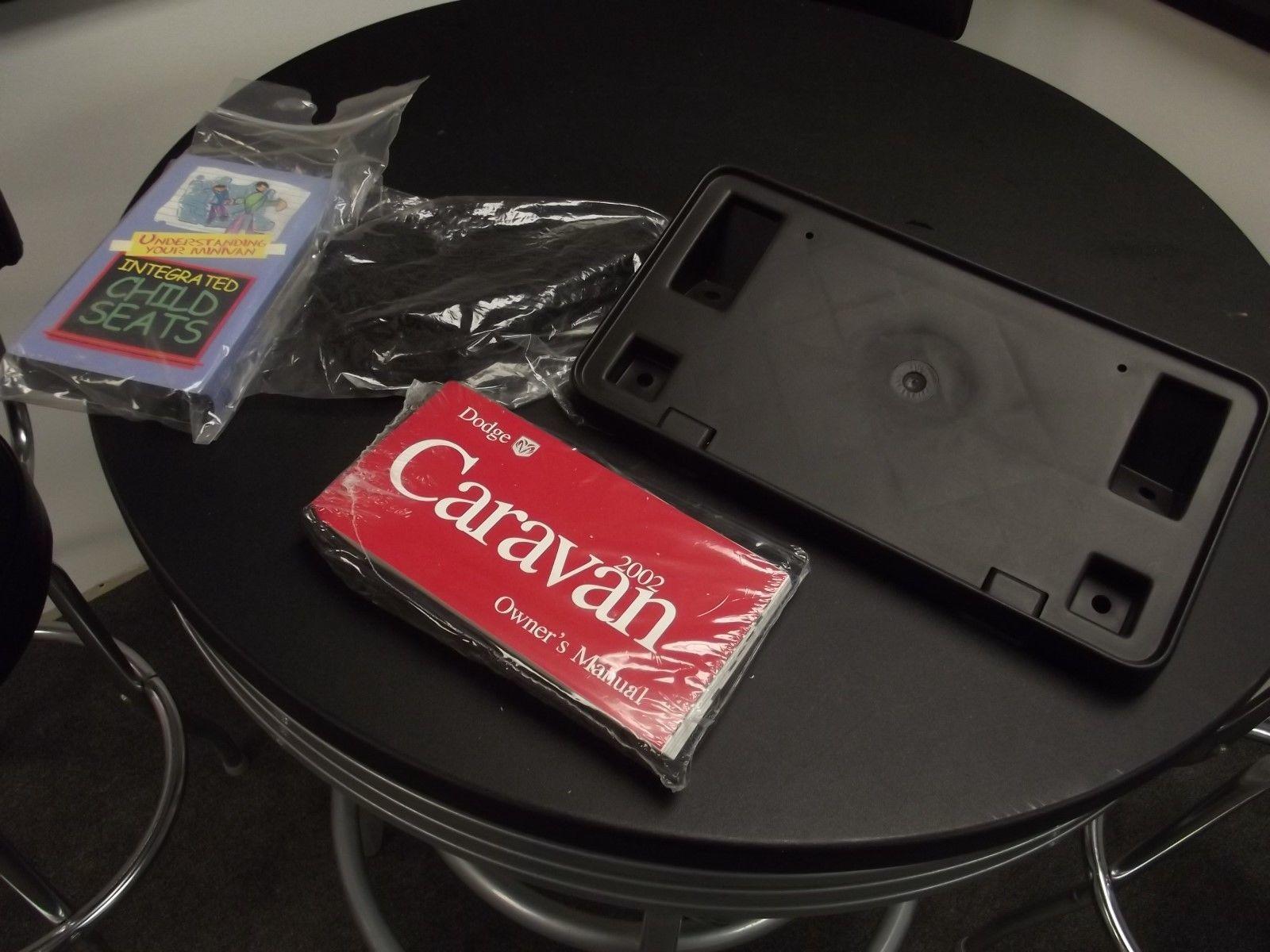 Original 2002 Dodge Caravan Owners Manual Kit Set Case With License Plate holder - $34.65