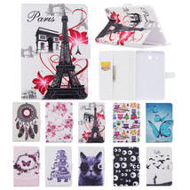 "Painting PU Leather Wallet Stand Folio Case Cover for Samsung Tab E 9.6""... - $10.63"