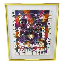 Greg Copeland Studios Floating Double Framed Glass-Encased Textile Art B... - $1,895.00