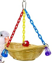 Bonka Bird Toys 1914 Basket Swing Bird Toy Cages Toys Parrot Natural Con... - £8.55 GBP