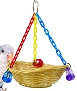 Bonka Bird Toys 1914 Basket Swing Bird Toy Cages Toys Parrot Natural Con... - £9.28 GBP