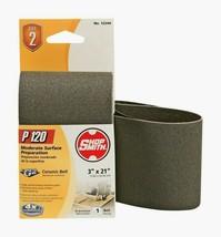 "Shopsmith P120 21"" x 3"" Ceramic SANDING BELT 120 Grit Fine 1 pc. Abrasive 12244 - $10.59"