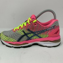Asics Gel Nimbus 18 Womens Running Shoes Sneakers Gray Pink T650N Size 6... - $49.49