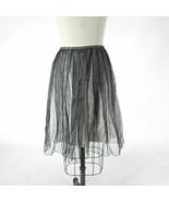 0 - Marc Jacobs Black & White Overlay Feminine Flowy Cinched Waist Skirt... - $51.51 CAD