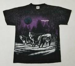 VTG 90s Sansegal Wolves All Over T-Shirt Mens Large Sams Town Las Vegas ... - $19.99