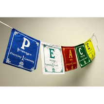 P.E.A.C.E. tibetan Prayer Flags  ,NEPAL - $3.47