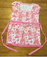 Justice Girl's Pink, Orange & White Floral Short Sleeve Shirt / Blouse -... - $11.87