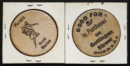 Florida's Weeki Wachee & Gottingen Street Wooden Nickels - $5.44