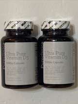 2 Bottles Pureclinica Ultra Pure Vitamin D3 5000iu - 360 Softgels Total 07/2021 - $21.78