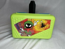 Marvin The Martian Looney Tunes SpaceMaker Pencil Box Neon Green Blue 2000 - $28.49