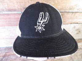 San Antonio SPURS Basketball Reebok Fitted Size 7 5/8 Adult Cap Hat - $14.84