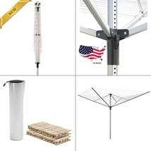 Outdoor Clothesline Dryer Laundry Umbrella Hanger Drying Rack Lightweigh... - $51.01