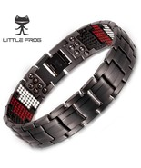 LITTLE FROG 591PCS Germanium Black Titanium Bracelet&Bangle Health Magne... - $36.97