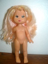 1989 HASBRO Girl Doll Light Pink Hair 7 inch - $4.95