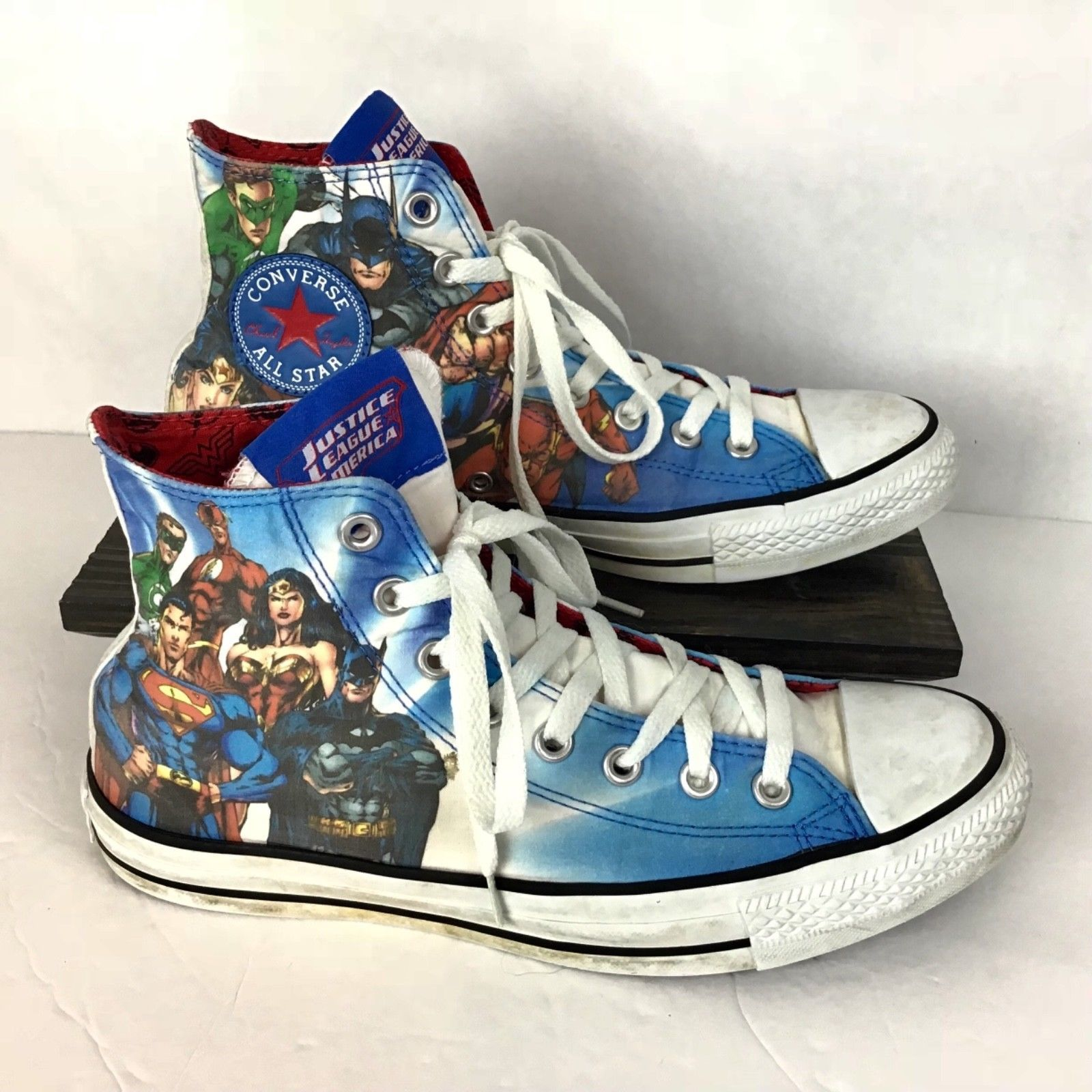 Justice League Converse Mens 8 Womens 10 Chuck Taylor Superman Batman Flash  image 1