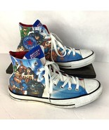 Justice League Converse Mens 8 Womens 10 Chuck Taylor Superman Batman Fl... - $39.87