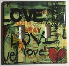 Street Art Wall Painting Love Light Switch Outlet wall Cover Plate Home decor image 4