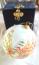 NEW Li Bien Reverse Hand Painted Glass Christmas Ornament Gingerbread Ma... - $14.25