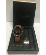 Ted Baker London TE50291012 Leather Men's Watch Set NWT - $88.03