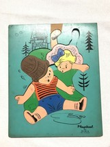 Playskoll Jack And Jill Fell Down A Hill Wood Jigsaw Puzzle Missing Two Pieces - $25.00