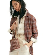 Free People Menswear-Inspired Slouchy Plaid Blazer Size Large - $108.89