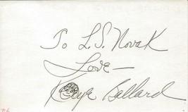 Kaye Ballard Signed 3x5 Index Card - $24.74