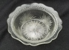 Clear Jeannette Depression Glass Sunburst Pattern Sauce Bowl - $10.00