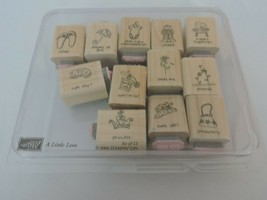 Stampin Up A Little Love Mounted Stamp Set of 12 Dog Purse Perfume Flip ... - $10.80