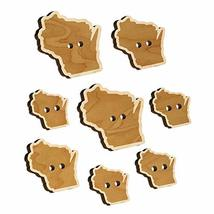 Wisconsin State Silhouette Wood Buttons for Sewing Knitting Crochet DIY Craft -  - $9.99