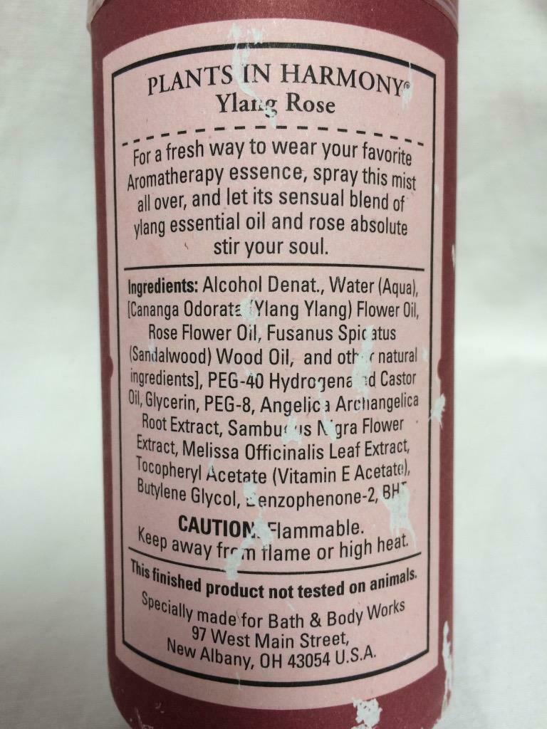 Primary image for New SEALED Bath & Body Works YLANG ROSE Body Essence SPRAY MIST 4oz Aromatherapy