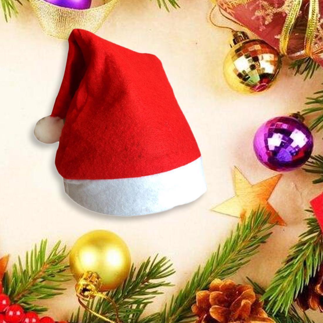 Kids Christmas Santa Hat Xmas Led Snowman Cap Reindeer Red Plush Costume Gifts