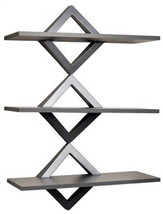 Danya B. WL-D101 S 3 Level Shelving System, Powder Gray - $111.86