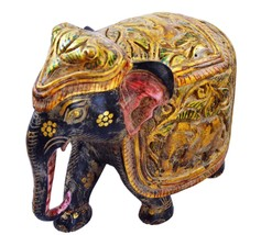 ANTIQUE INDIAN VINTAGE LOOK HAND CARVED WOODEN ELEPHANT STATUE FOR HOME ... - $59.99