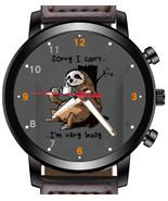 Sloth Cartoon Art Funny Unique Unisex Beautiful Wrist Watch UK FAST - $45.00