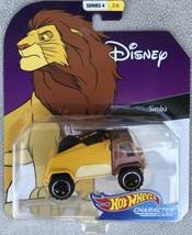 Hot Wheels Character Cars Disney Simba Lion King Character Car - Sealed - $11.95