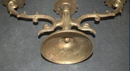 Judaica Shabbat Candlestick Candle Holder Candelabra Bronze Vintage Israel 1960s image 7