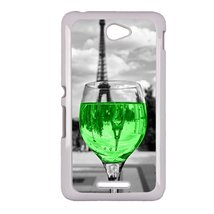 Coloful wine with Paris Sony E4 case Customized premium plastic phone case, desi - $11.87
