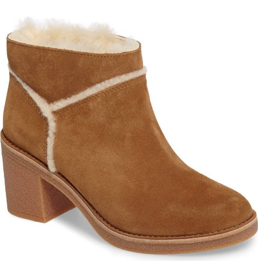 UGG  Kasen Genuine Sheepskin Lined Bootie Chestnut Mult Sizes