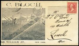 C. Block Unusual Under Water Scene 8/31/1898 Advertising Cover - Stuart ... - $90.00