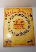 The Golden Dictionary, A Giant Golden Book, 10x13 1944 Ellen Wales Walpole - $9.99