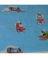 Thomas Tank Engine & Friends Train Fitted Flat Sheets Blue Kids Baby Tod... - $19.79