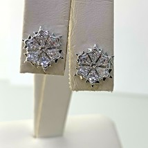 Swarovski Magic Collection Snowflakes Stud Earrings Rhodium Plated   #2 - $44.54