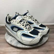 Skechers Shape Ups XF Accelerators Womens Size 8.5 White/Blue Toning Sneakers - $35.95