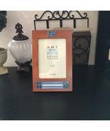 "ART GLASS Wood Picture Frame 10"" x 7"" HAND MADE Photo Frame Malden INTER... - $9.99"